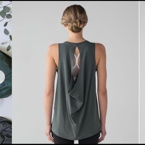 NWT Lululemon Low Key Tank Green 8
